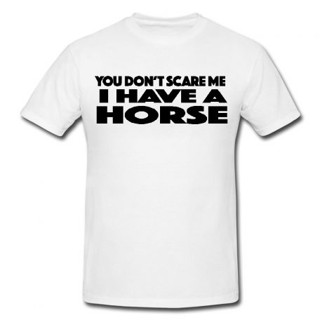 You Don't Scare Me I Have A Horse